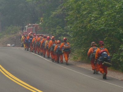 California finally passes bill to allow former inmates to become firefighters as wildfires rage and COVID infects prison laborers