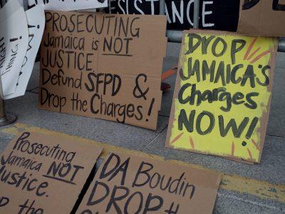 SF Community Members Gather to Demand DA Chesa Boudin Drop Charges Against Jamaica Hampton