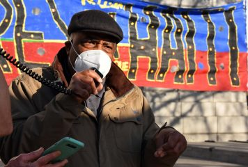 Activists Demonstrated in Solidarity with Haiti at Civic Center