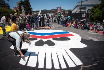 Climate Activists Gathered in Front of Richmond Refinery for Anti-Chevron Day