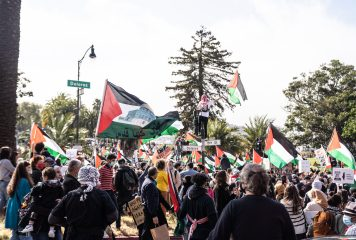 """""""End Apartheid"""": Thousands Marched in San Francisco Mission District in Support of Palestine"""
