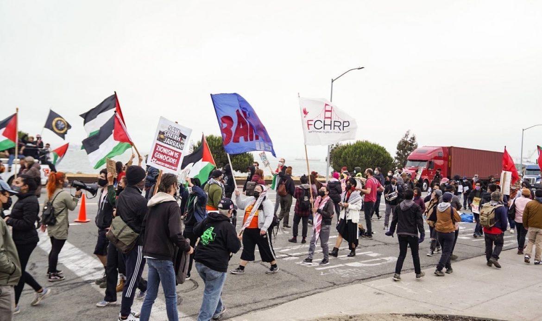 Demonstrators Successfully Blocked Israeli Cargo Ship at Port of Oakland