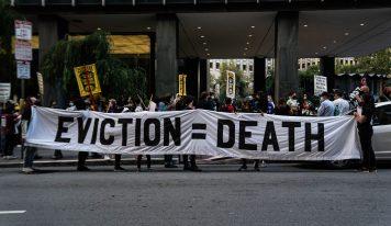 Tenants Marched to Veritas Headquarters as Eviction Moratorium Expires